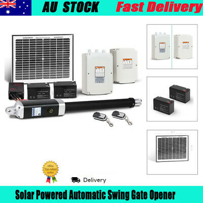 Solar Powered Automatic Swing Gate Opener With 2 Remote Controls Free Shipping