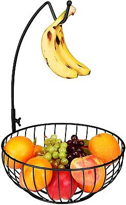 Fruit Basket Premium Quality Metal  with Removable Hanger - Wire Design