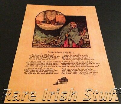 An Old Woman Of The Roads - Padraic Colum - Irish Home & Family Blessing Print