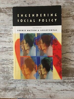 Engendering Social Policy by Watson (Paperback, 1999)