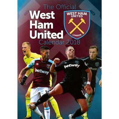 West Ham United Calendar 2018 Wall Fan Gift Official Licensed Football Product