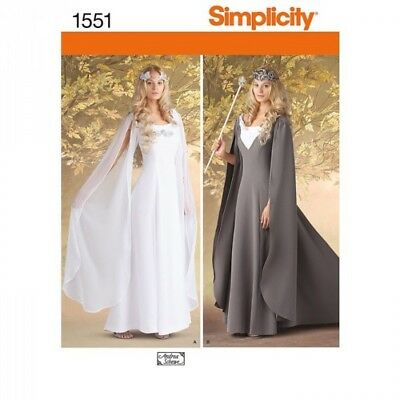 Women's Princess Royal Dress Fabric Sewing Patterns 1551