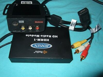 Jensen MediaLink with Jensen HDRM-1 HD Radio Module AS IS Untested for Parts