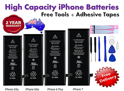 iPhone 4s 5 5S 6 6S 7 8 Plus Brand New Premium OEM Battery Replacement + Tools
