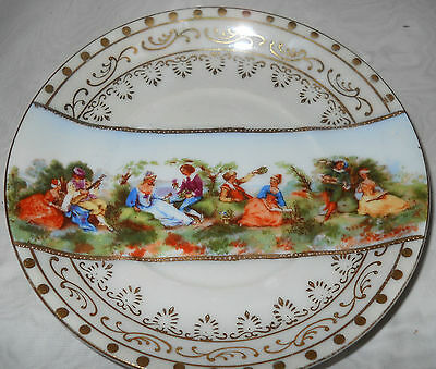 REDUCED Rare Hand Painted Lefton Portrait Cabinet Plate Courting Couples