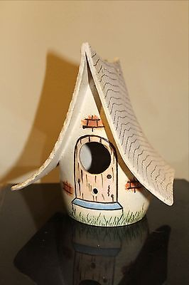 Hand Crafted Pottery Birdhouse, Signed W.M.