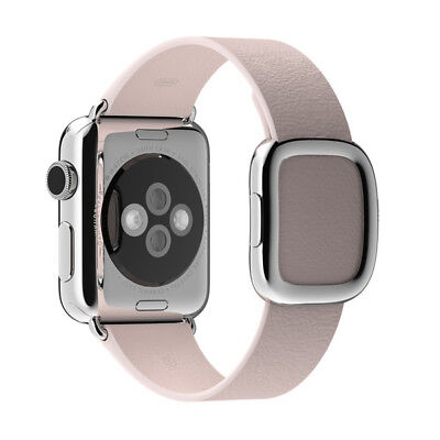 GENUINE APPLE WATCH STRAP MJ592ZM/A 38mm Modern Buckle Large soft pink for Watch
