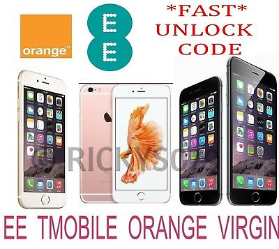 UNLOCK CODE SERVICE IPHONE se 7 7+ 6S 6S PLUS 6+ 6 5S 5 4S 4 UK EE TMOBILE
