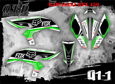 Scrub Dekor Kit Atv Kawasaki Kfx 450 Graphic Kit Q1 B