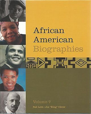 AFRICAN AMERICAN BIOGRAPHIES Volume 7 REFERENCE Hardcover BIOGRAPHY History BOOK