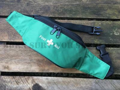 EMPTY FIRST AID KIT BUM BAG POUCH - Green Trauma Emergency Medical Sports Carry