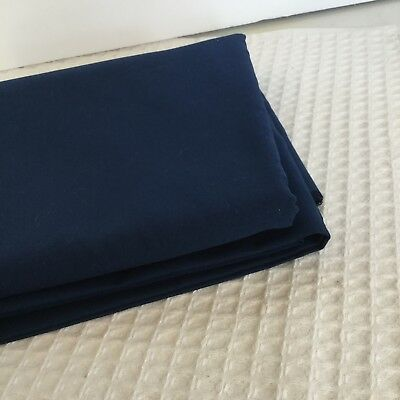 "Vintage Navy Bottomweight Fabric Cotton Polyester Blend 2 Yds X 62"" W Solid"