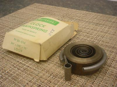"Vintage 3/4"" 96"" .018  Clock Loop-End MainSpring for Repair work  E907a"