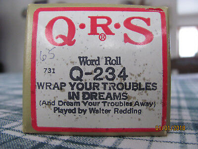 """QRS Player Piano Roll """"WRAP YOUR TROUBLES IN DREAMS"""""""