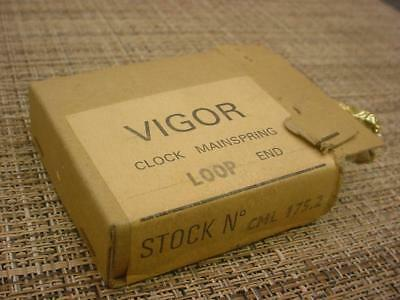 "Vintage 11/16"" 96"" .018 Vigor Clock Loop-End MainSpring for Repair work  E905a"