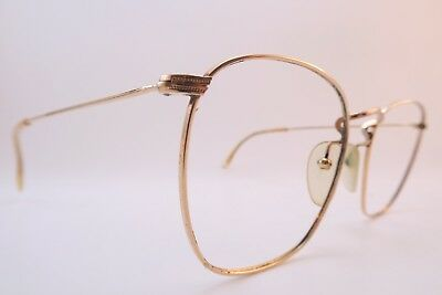 Vintage gold filled Morel eyeglasses frames Doublé Or Laminé size 52-19 France