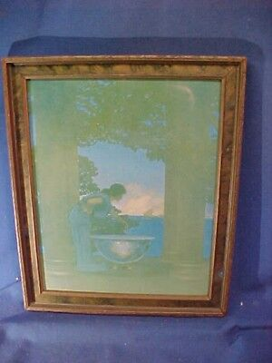 Orig 1920s MAXFIELD PARRISH Illustrated CIRCES PALACE Framed PRINT 13 x 11