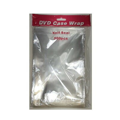 14mm DVD CASE WRAP PROTECTIVE CASE COVER 25 MICRON / DVD CASE WRAPPER **200 PACK