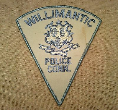 CT Willimantic Connecticut Police Patch 1