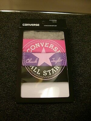 Converse Girls Pack Of 5 Bodysuit Gift Set Age 0 - 6  Months