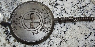 Griswold #151 Waffle Cast Iron #8 Pat 1922 1 Paddle Only Vtg Antique Part
