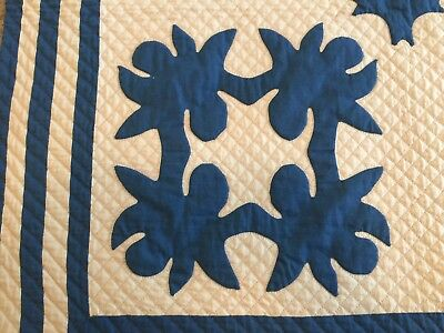 "Antique Quilt - ""Scherenschnitte"" design, a rare find, the REAL THING"