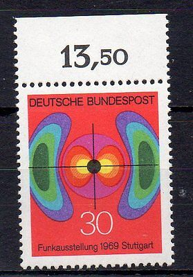 West Germany Stamp 1969 Radio Exhibition Sg 1498 Mnh With Value Margin