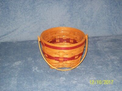 Longaberger Christmas 1994 Jingle Bell Basket with Protector