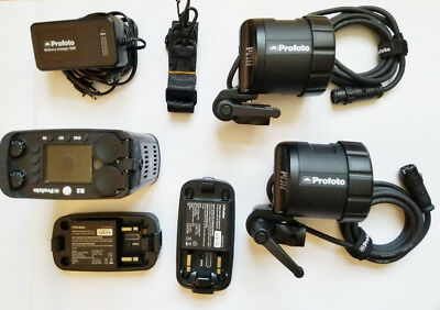 Profoto B2 250 Kit, 1 Pack, 2 Heads, 2 Batteries. In Perfect Condition.