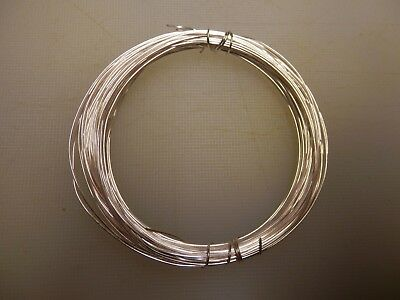 0.6 mm Silver Plated Craft/Jewellery/Florist Wire Non Tarnish 10m