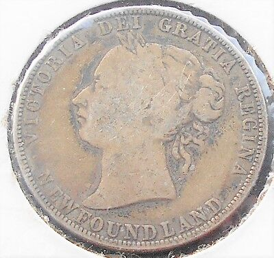 Scarce .925 Silver 1894 Canada NEWFOUNDLAND 50 Cents KM#6 Victoria Nice # WB5