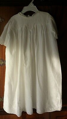 Antique Christening Baby Gown & Underdress Fine worked lace Etc , Hand Made