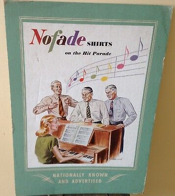 Vintage Menswear Advertising Nofade Shirts HD Howard Hit Parade Poster Piano