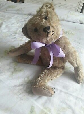 Antique Teddy bear STRUNZ ? German ? Early Rare character jointed mohair