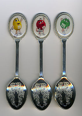 M&M's 3 Silver Plated Spoons Featuring M & M 's
