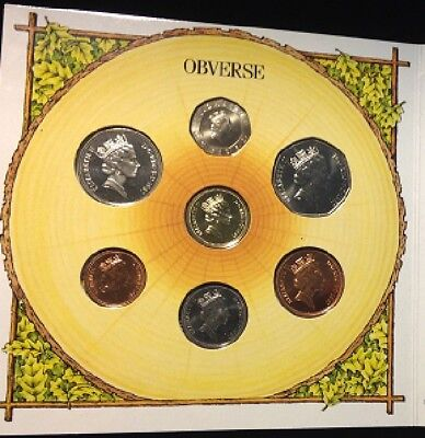 1987 United Kingdom 7 Brilliant Uncirculated Coin Collection BU Set Royal Mint