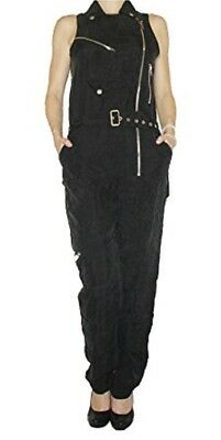 Diesel J Jupit Women Overall Jumpsuit Black XXS NWT Authentic Retail 448 USD