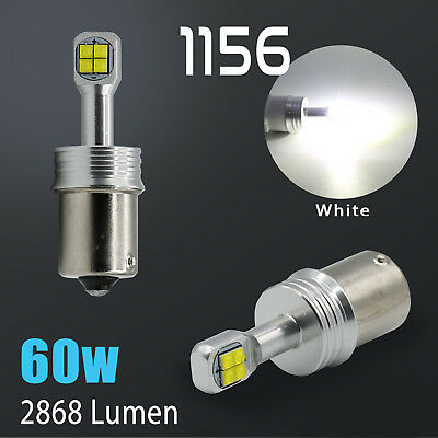 2018 CREE 2800 Lumens 1156 High Power LED White Reverse Back Up Light Bulbs