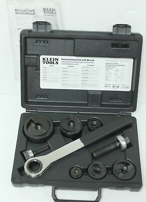 Klein Tools Knockout Punch Set With Wrench 53732-Sen - Clean!!!