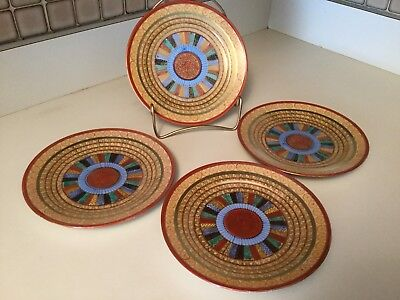 Antique Kutani Japanese 1000 Thousand Faces Luncheon Salad Dessert Plates Lot 4