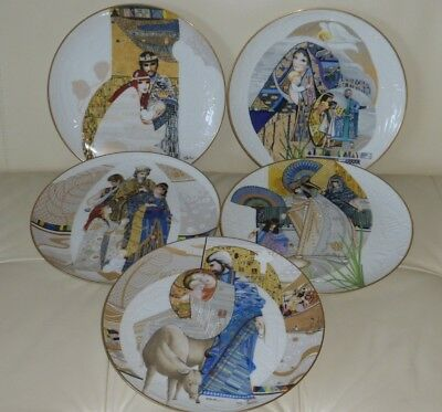 Edwin Knowles Biblical Mothers Series Plates By Eve Licea Set Of 5