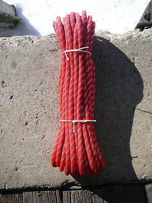 "7/16"" x 75' Sterling Static Line, Low Stretch Rope Climbing Rappel, Tag Line Red"