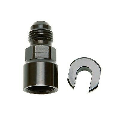 "Russell 644123 EFI Fuel Fitting -6AN Male to 3/8"" Hardline Female Black Screw On"