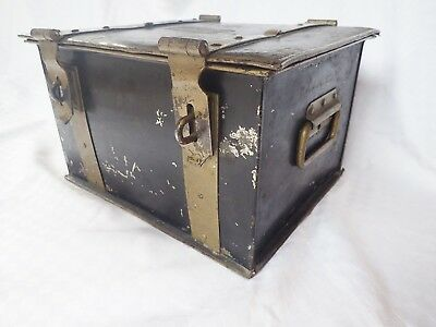 Antique Dated May 25 1875 Iron Old West Stagecoach Bank Train Strongbox Box Safe