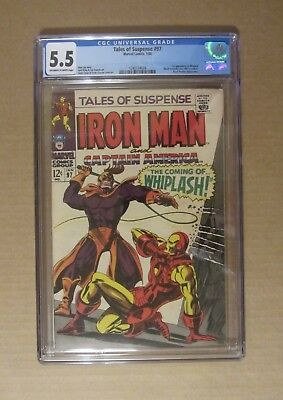 Tales of Suspense #97 (1968) CGC 5.5..1st Whiplash/Black Panther app. Kirby art
