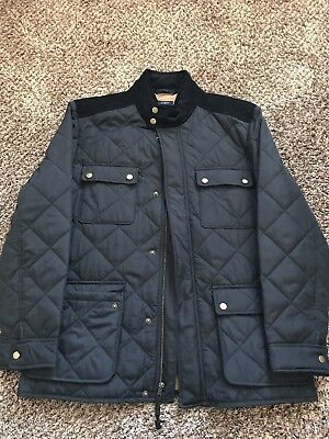 J.Crew Men's Authentic Outerwear Quilted Coat Size Large Black