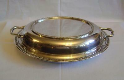 Vintage 1930s Silver Plate Tureen Entree Dish & Lid: Regis Plate: Good Condition