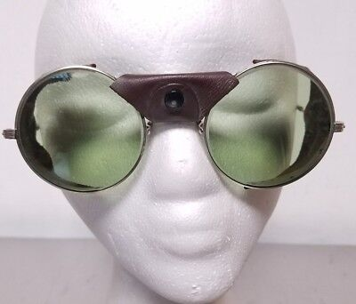 Vintage American Optical Aviator Motorcycle Safety Glasses Goggles AOM steampunk