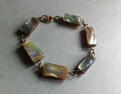 Vintage Early 20th Century Mother Of Pearl Bracelet Edwardian Art Deco MOP