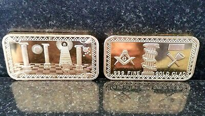 1 Oz Freemasonry Bar! Beautiful Masonic Bar! Hot Item! < Great Gift! > ->>